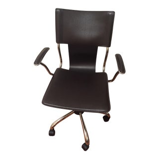 Euro Style Terry Brown Leatherette Chrome Office Chair