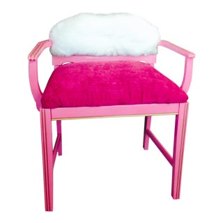 Suga Lane Painted Hot Pink Bench