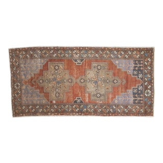 "Vintage Distressed Oushak Rug Runner - 4'9"" x 9'8"""