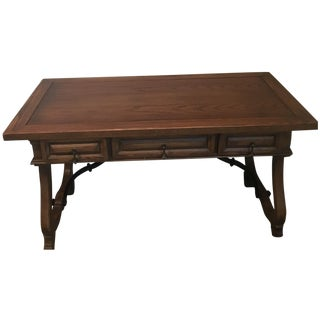 Hekman Spanish Trestle Desk/Writing Table