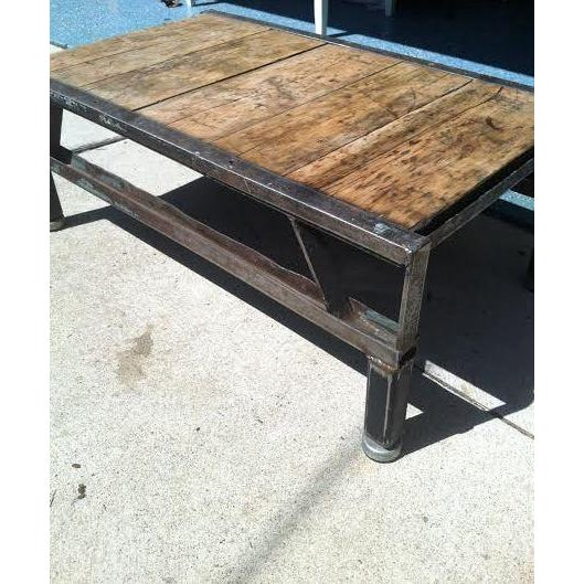 Image of Industrial Detroit Factory Cart Coffee Table