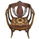 Image of Inlaid Mahogany Armchair