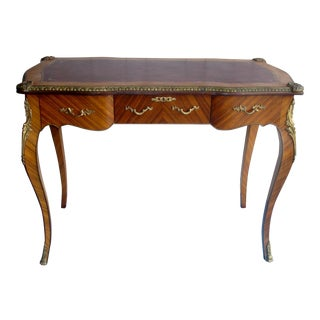 French Ladies' Leather Top Desk
