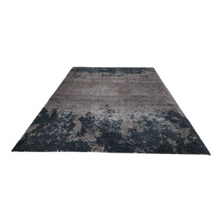 Atelier Lapchi Nebulous Gray Wool Hand Knotted Rug - 8' X 11'