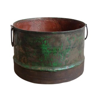 Industrial Metal Bucket Planter