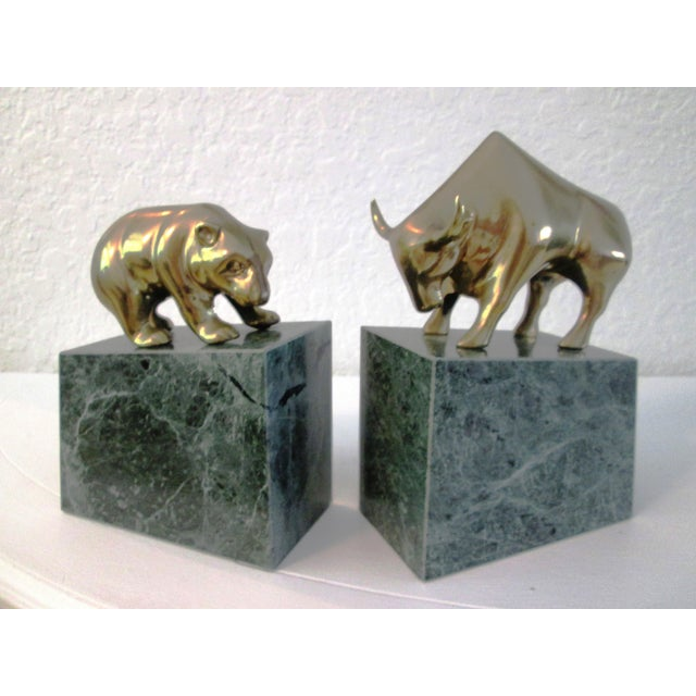 Wall Street Bull & Bear Brass Bookends - A Pair - Image 2 of 6