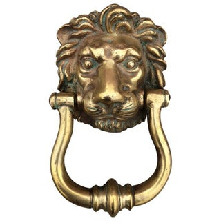 Lion Door Knocker in Cast Bronze
