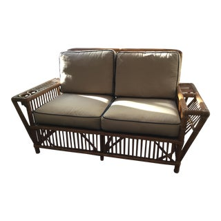 Palecek Presidents Collection Rattan Garden Couch
