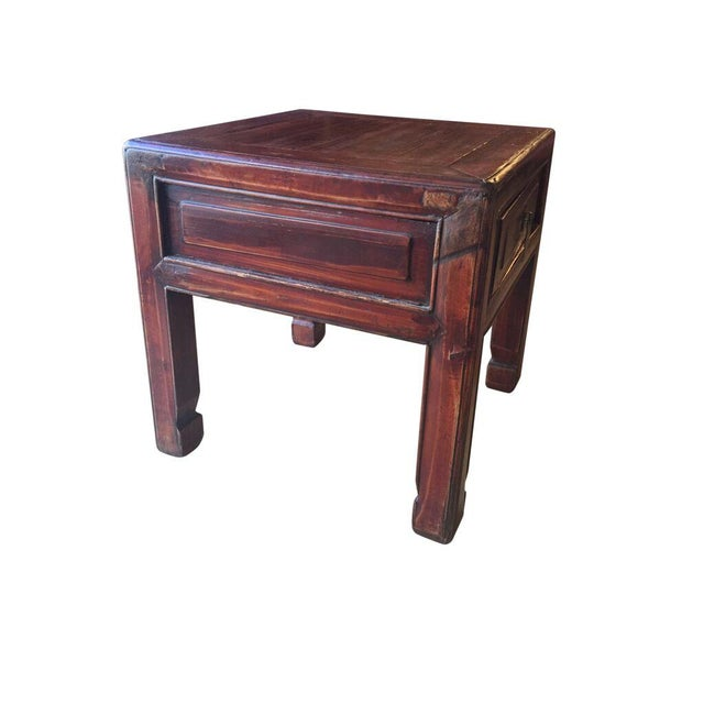 Petite oriental accent table chairish for 10 wide end table