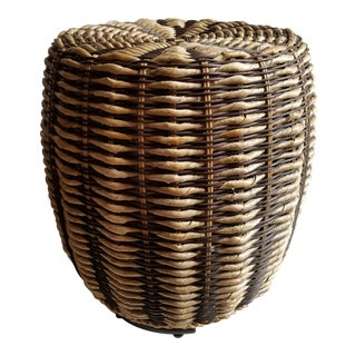 Wicker & Seagrass Asian Style Garden Seat End Table