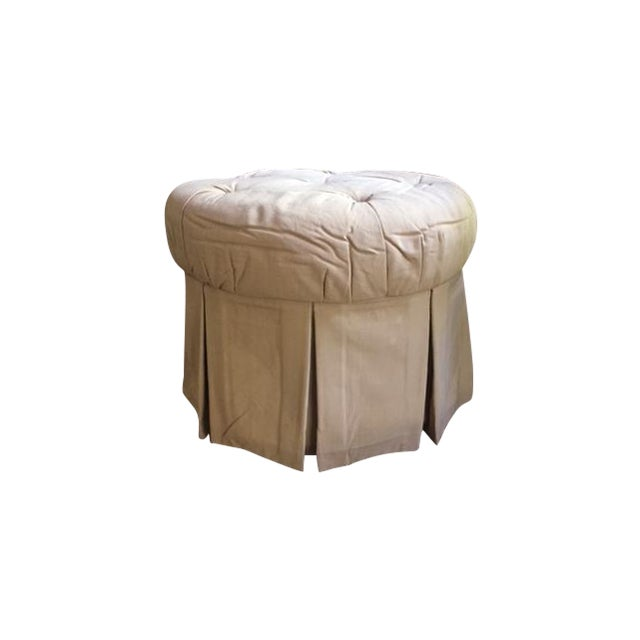 Round Fabric Ottoman - Image 1 of 8