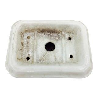 Antique Iron Stone Soap Dish