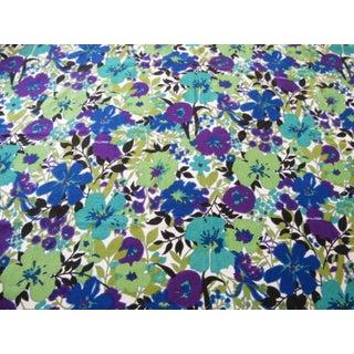 Vintage Floral Everfast Violet Fabric - 1 Yard