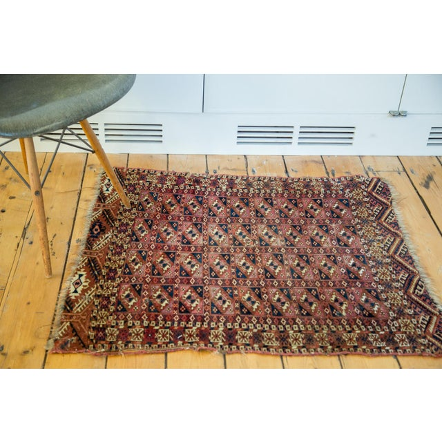 "Antique Turkmen Square Rug - 2'8"" X 3'1"" - Image 4 of 9"
