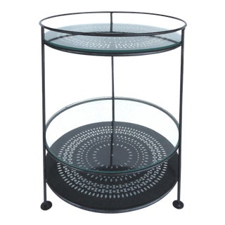 French Enameled Iron Bi-Level Bar Side Table