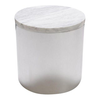 Marble and Steel Drum Accent Table by Paul Mayen for Habitat