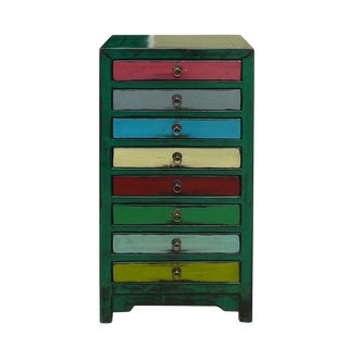 Mid-Century Mutli-Color File Cabinet