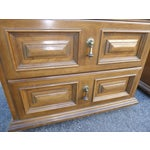 Image of Mid Century Modern Drexel Two Drawer Solid Wood Nightstands - a Pair