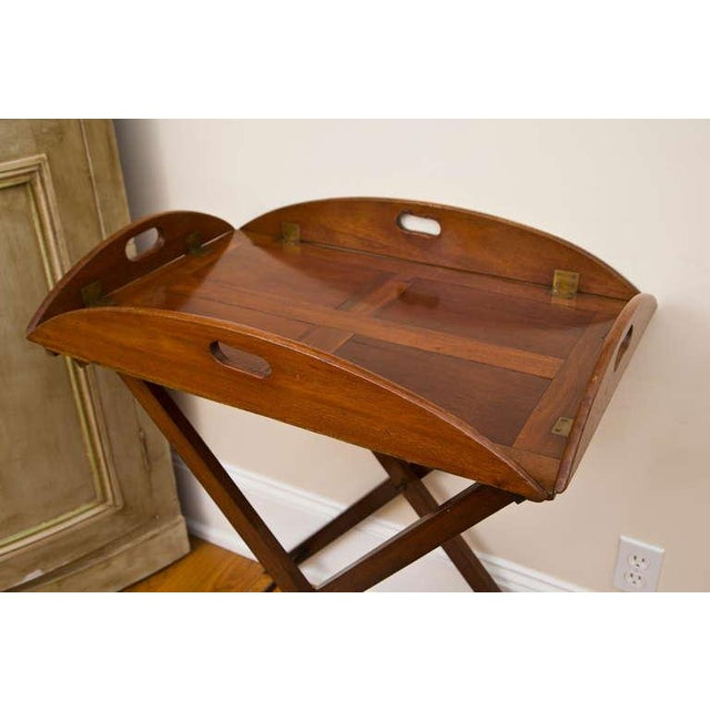 Antique Bar Height British Butler's Tray - Image 3 of 8
