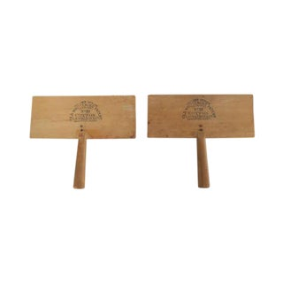 Antique Wooden Cotton Pullers Combs - Set of 2