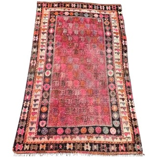 "Vintage Turkish Rug - 4'4"" X 7'1"""