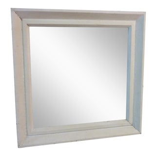 Small Square Whitewashed Mirror