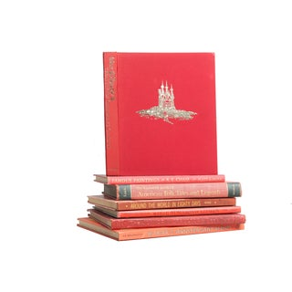 Red Children's Book Stack - Set of 7