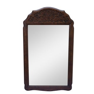 Solid Oak Frame French Country Style Wall Mirror