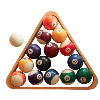 Vintage Billiard Ball Set
