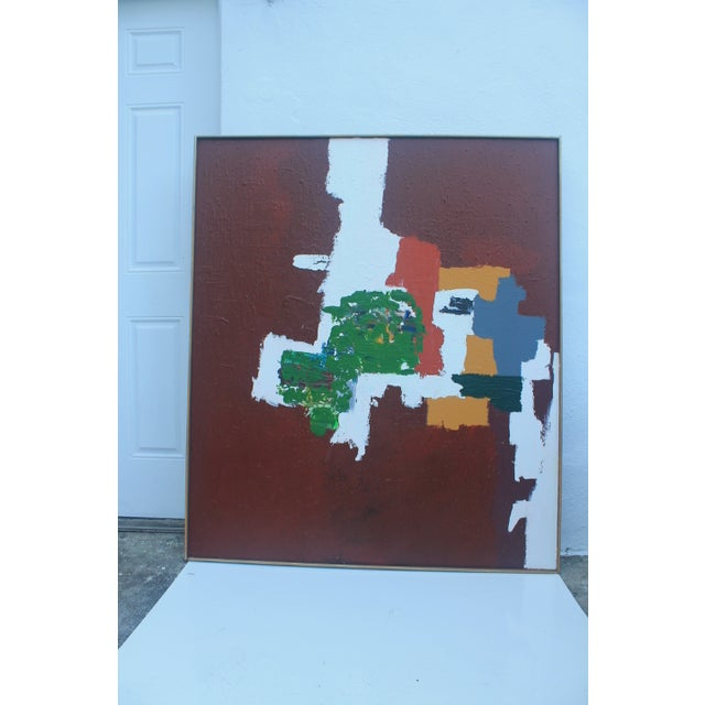 Mid-Century Modern Abstrac Expressionist Painting - Image 11 of 11
