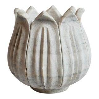 Large White Marble Tulip Pot