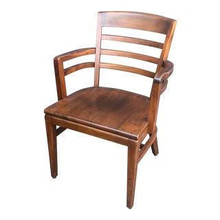 Gunlocke Walnut Office Chair