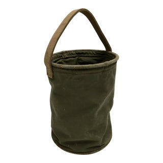 Vintage World War II 1944 Canvas Water Bucket