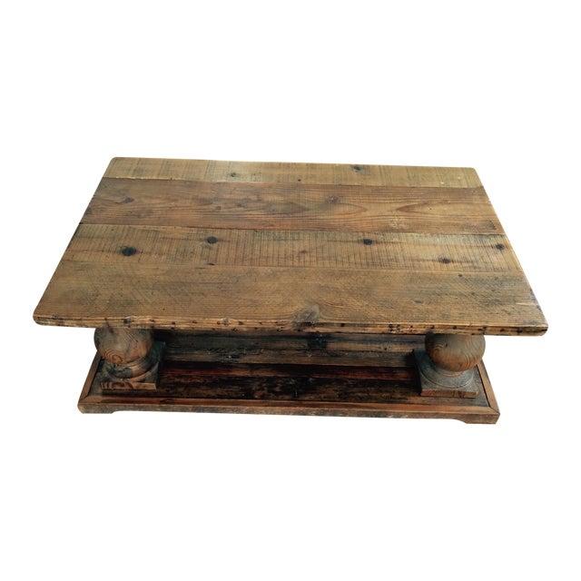 Arhaus Wooden Coffee Table - Image 1 of 9