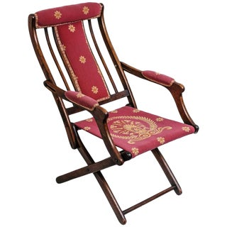 19th Century, French, Napoleonic Campaign Style Folding Chair