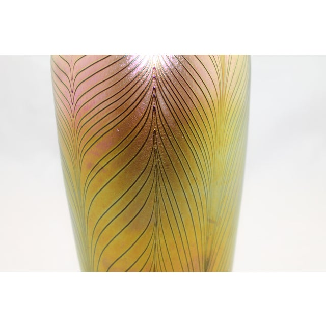 Contemporary Steuben Style Gold Vase - Image 7 of 11