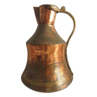 Antique Turkish Copper Rustic Pitcher Ewer