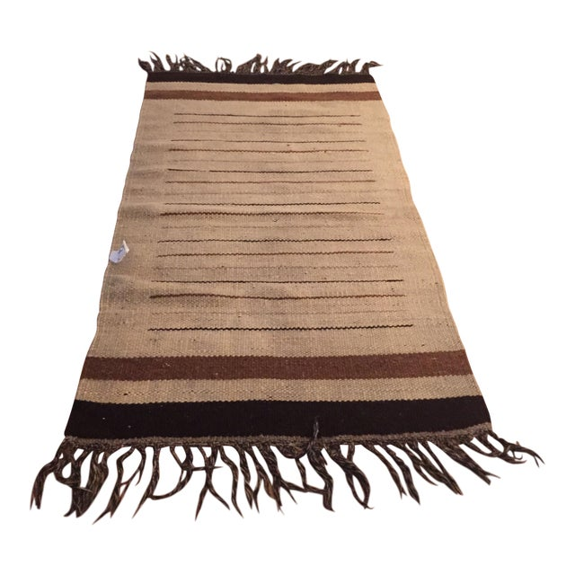 Vintage Moroccan Hand Woven Flatweave Rug - Image 1 of 8