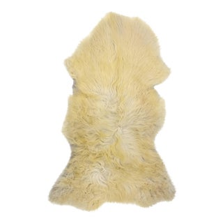 "Authentic Handmade Long Soft Wool Sheepskin Pelt, Genuine Sheepskin Rug - 2'4"" X 4'0"""