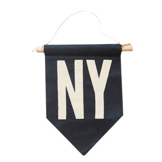 Navy NY Felt Flag