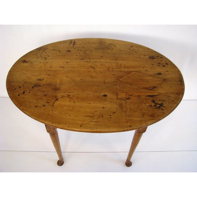 Queen Anne Birds-Eye Maple Oval Tea Table 18th C - Image 3 of 11