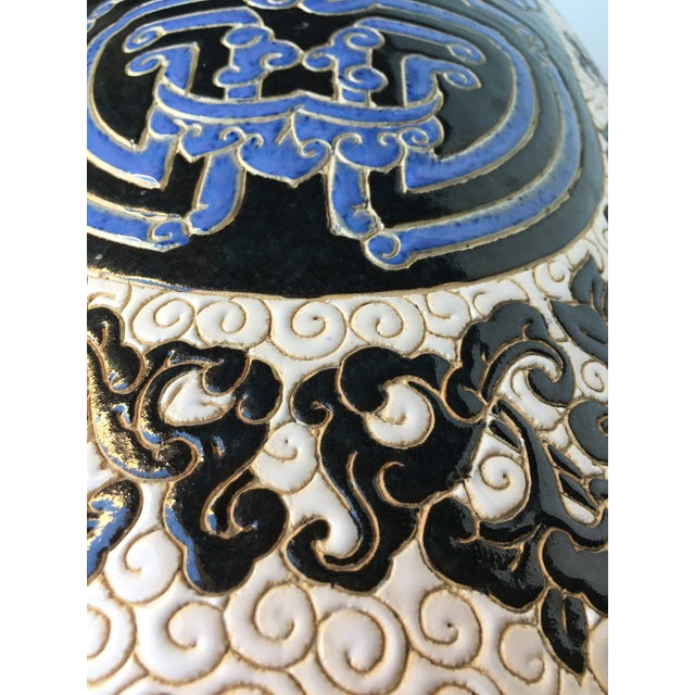 Image of Chinese Porcelain Lion Head Motif Garden Stool