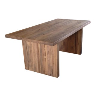RH Reclaimed Russian Oak Plank Rectangular Dining Table