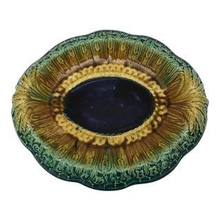 Antique Majolica Bread Platter