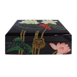 Chinese Oriental Lacquered Jewelry Box
