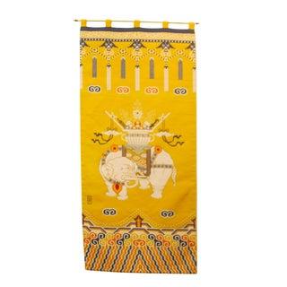 Yellow Tibetan Elephant Khaden Style Rug