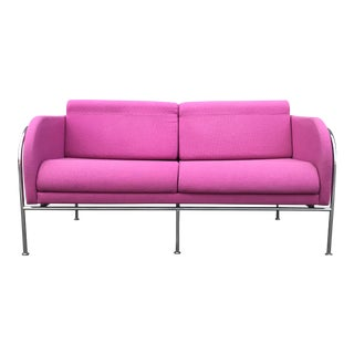 1970s Danish Modern Fuschia Sofa