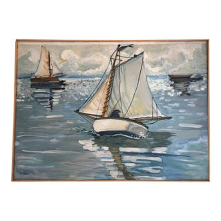 """""""Sailing On the Navesink"""" Painting"""