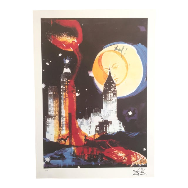 "Salvador Dali ""Manhattan Skyline Tarot the Moon"" Original Limited Edition Lithograph - Image 1 of 8"