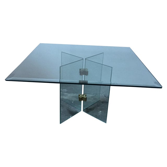 Leon Rosen Pace Collection Glass Coffee Table - Image 2 of 10